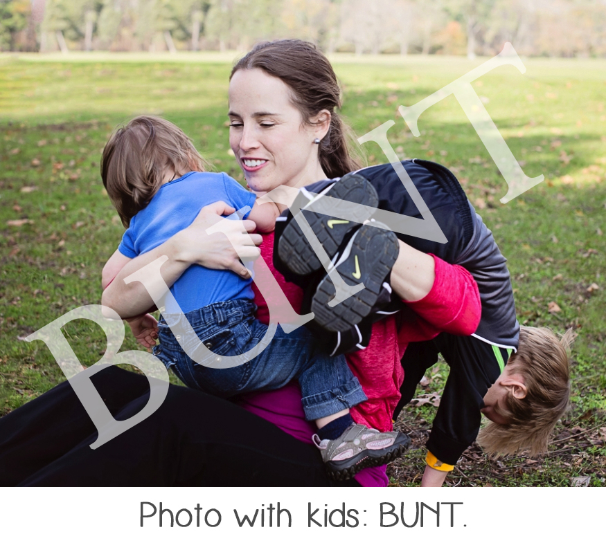Photo with kids.  Bunt.