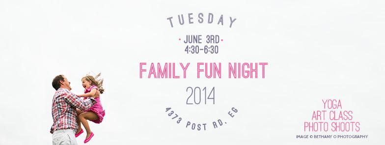 Family Fun Night Banner for Facebook