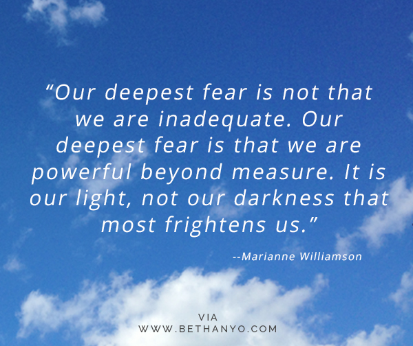 Deepest Fear Marianne Williamson quote