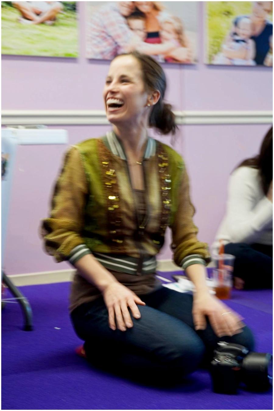 Bethany teaching photography 101 class at Bellani Maternity