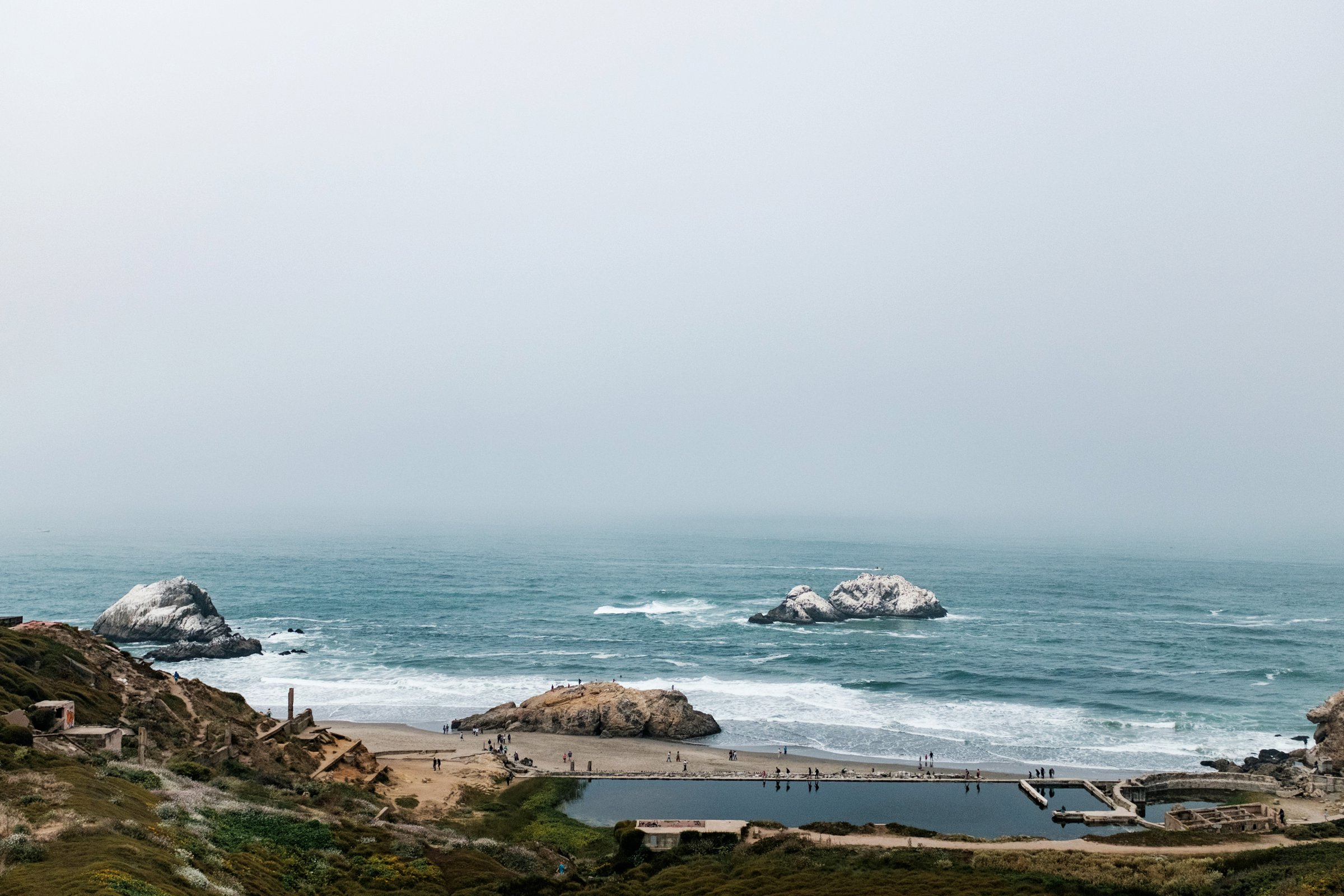 The Sutro Baths date back to 1896 and sit in ruins on Lands End