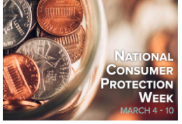 National Consumer Protection Week is March 4 – 10! Join us March 6th at noon for our Facebook Live Chat. Register at:   Spot Scams  #NCPW2018
