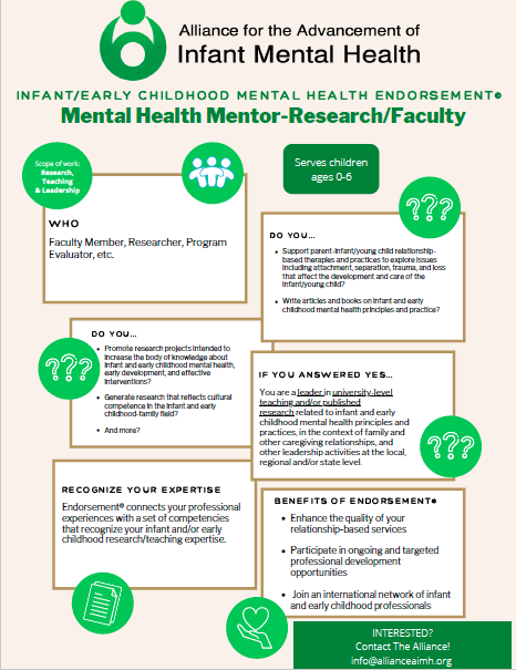Infant Mental Health Requirements Allianceaimh