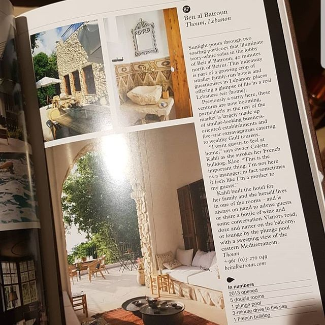 """We are proud to be featured in """"The MONOCLE Guide to Hotels, Inns and Hideaways"""" @monocletravel  #hotelibanais #guesthouse #batroun #lebanon"""