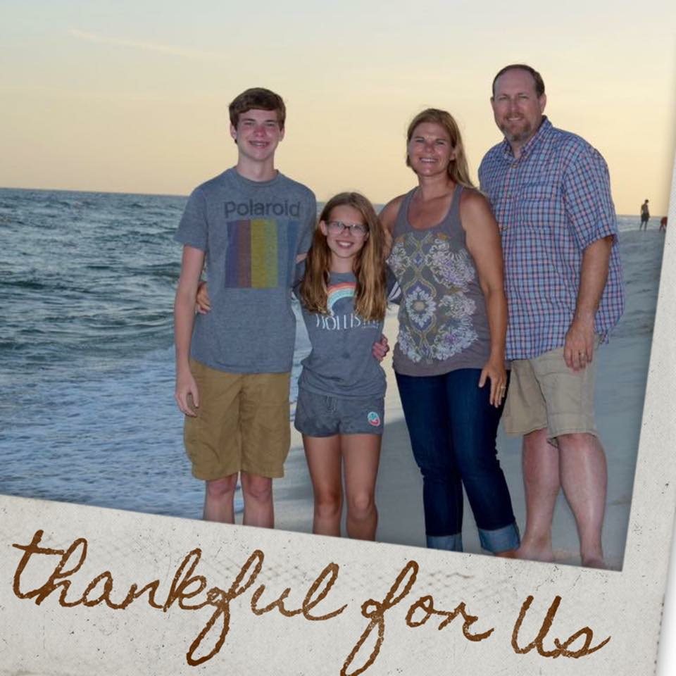 The murphy family in Florida during Summer vacation 2016.