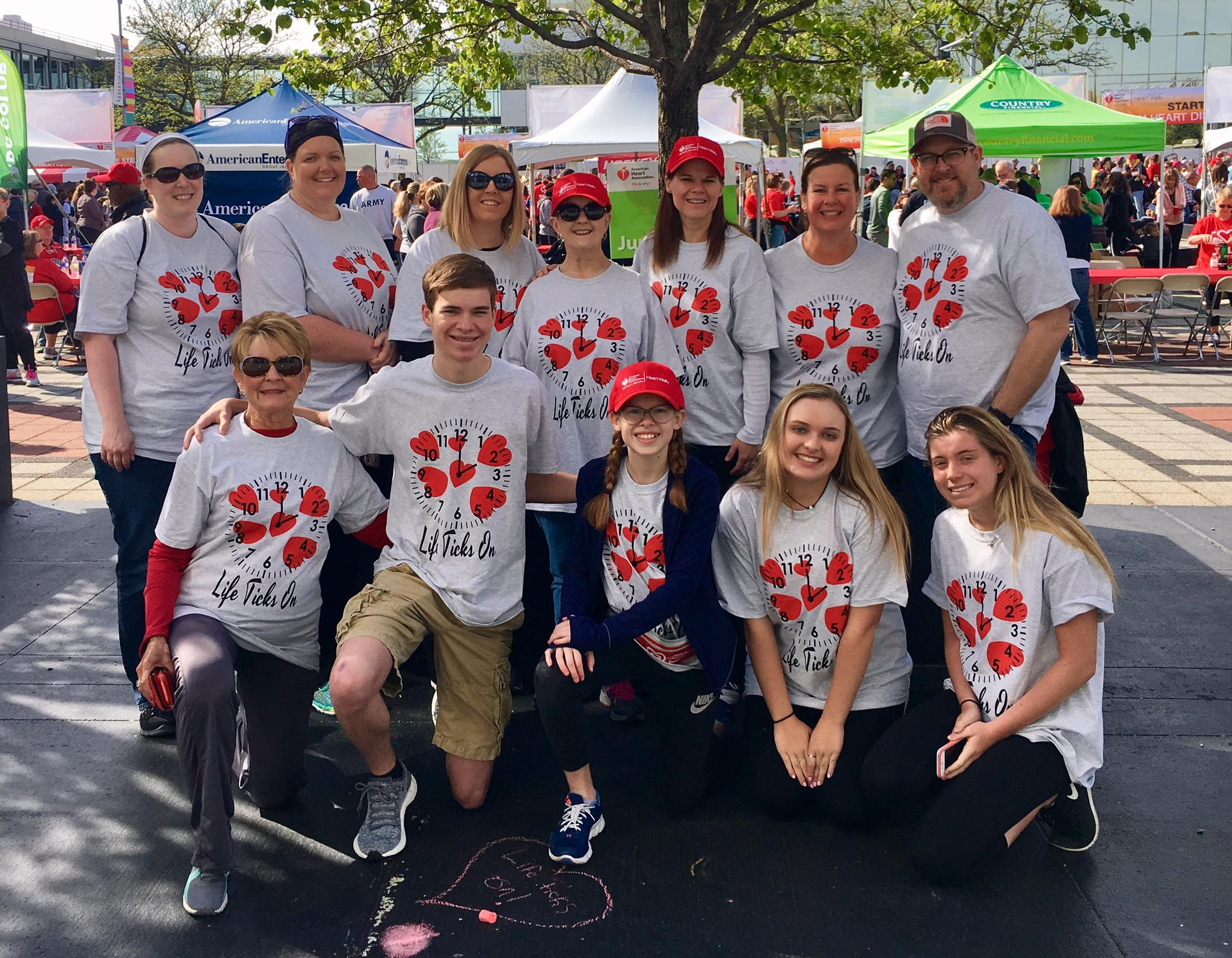 """Life Ticks On""  2017 Heart Walk team. Great family and friends who came out to support the cause and have a little fun!"