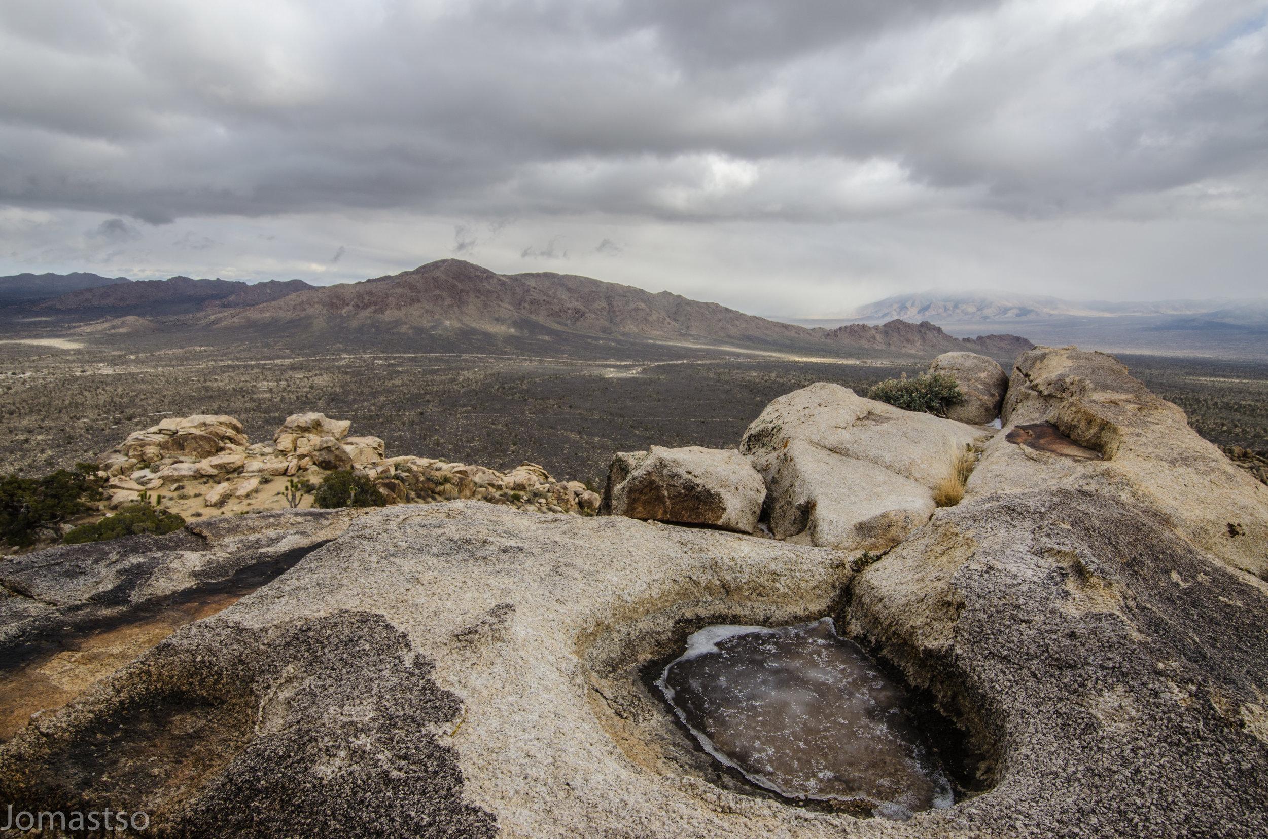 Kessler Peak Viewed From Teutonia Peak