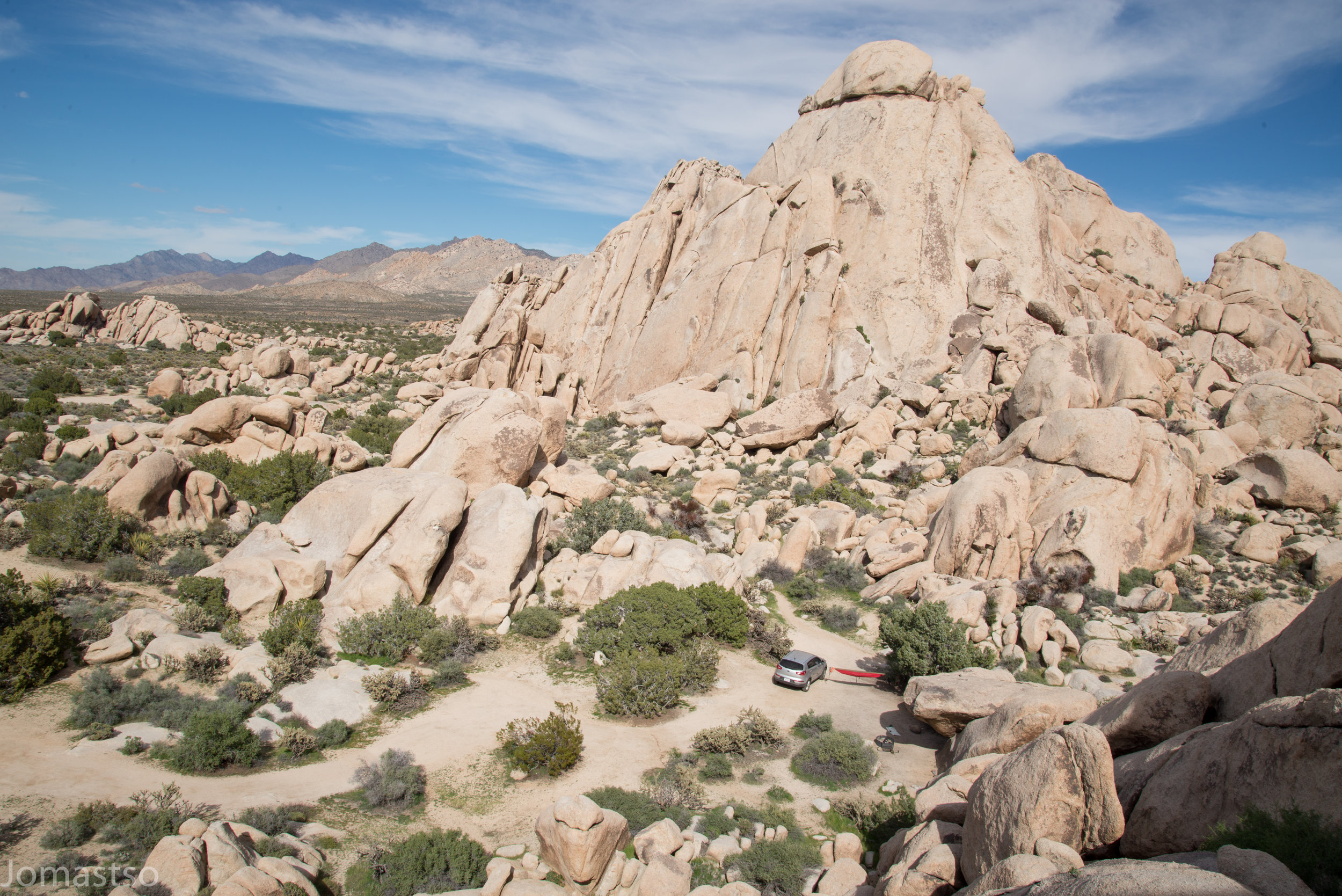 Desert Camp in the Granite Mountains