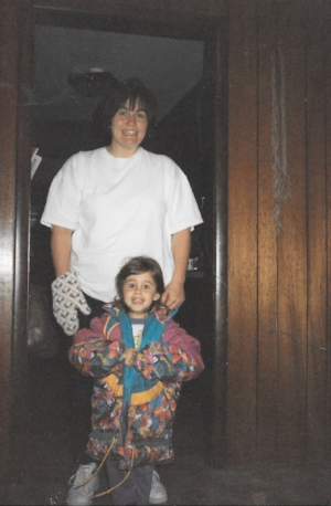 My mom and I WHEN I WAS PROBABLY FOUR OR SO. SHE INSTILLED IN ME A LOT OF THE CREATIVE ROOTS I HAVE TODAY.