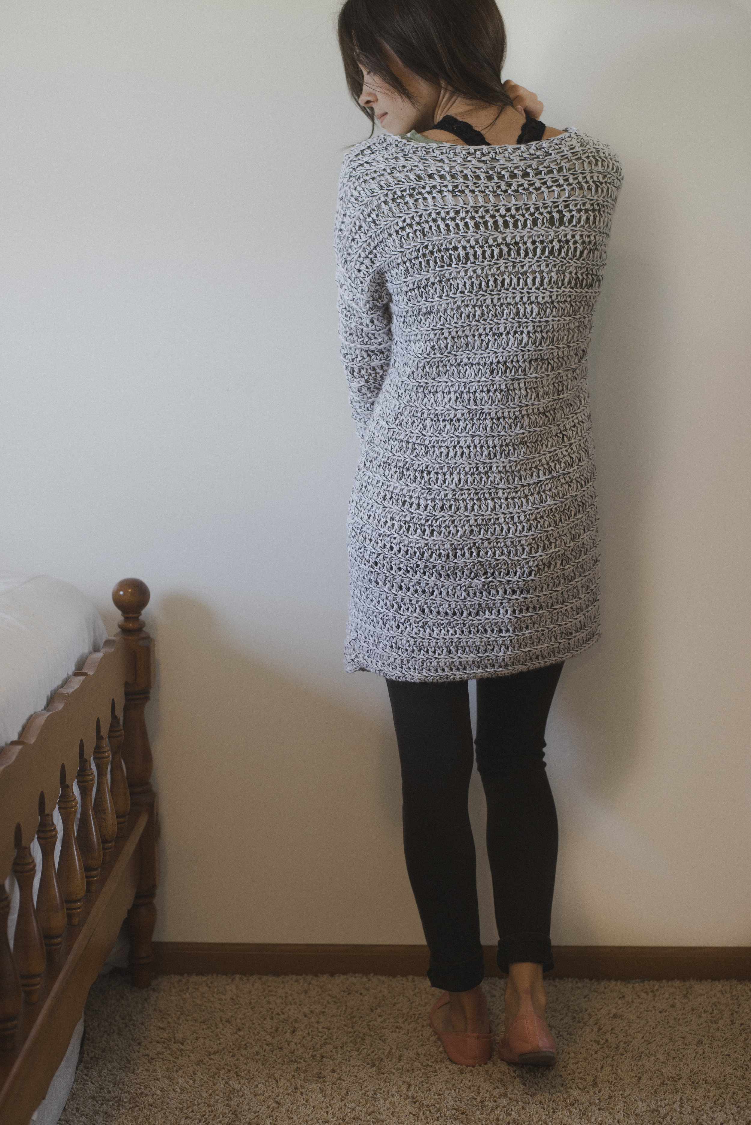 Free Crochet Pattern For The Marley Cardi A Long Chunky Cardigan Sweater Megmade With Love