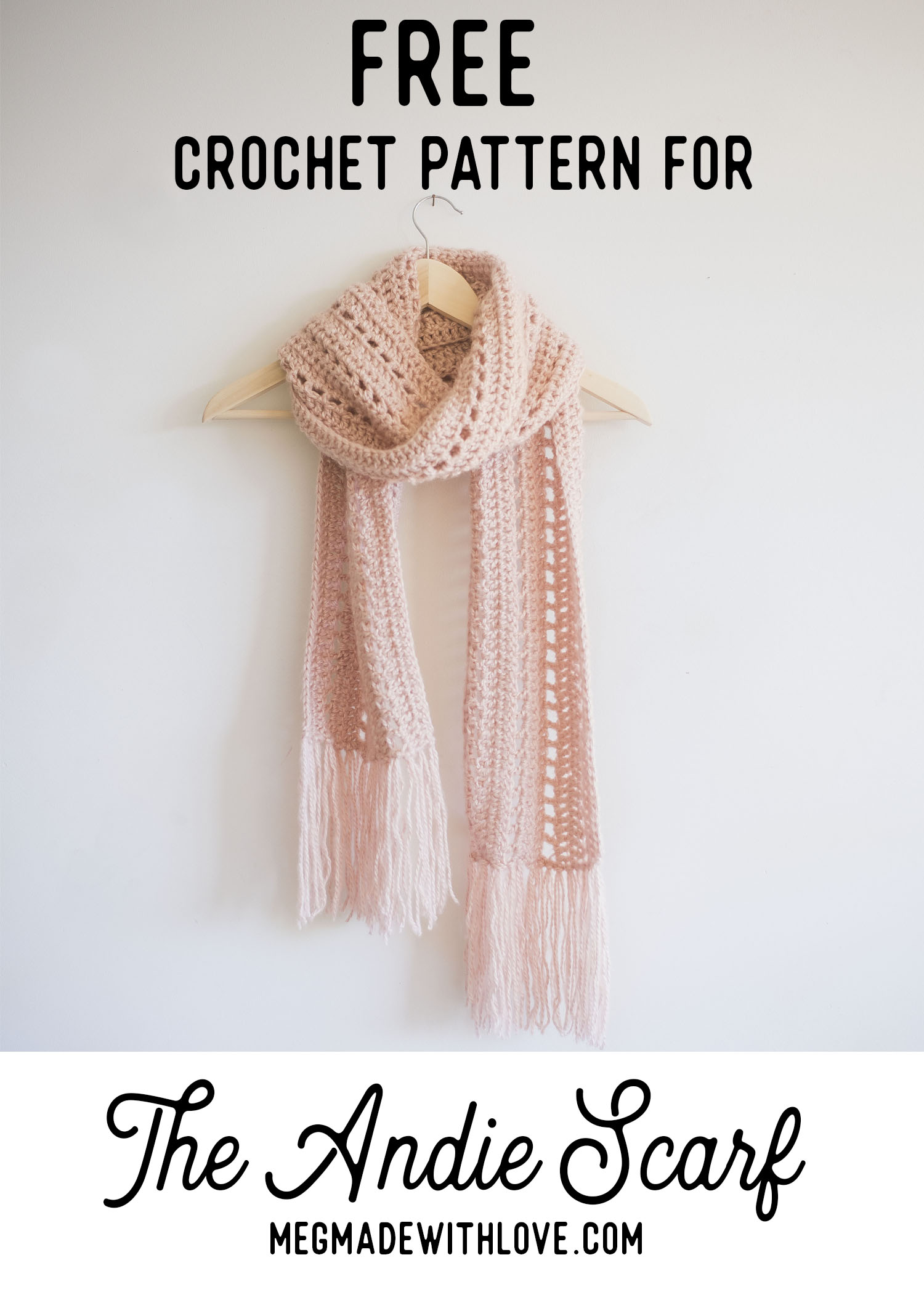 Free Crochet Pattern for the Andie Scarf