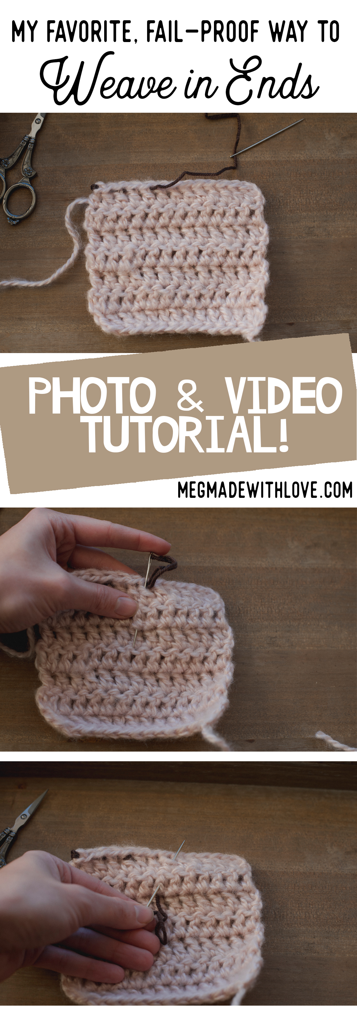 My Favorite, Fail-Proof Way to Weave in Ends - Megmade with Love