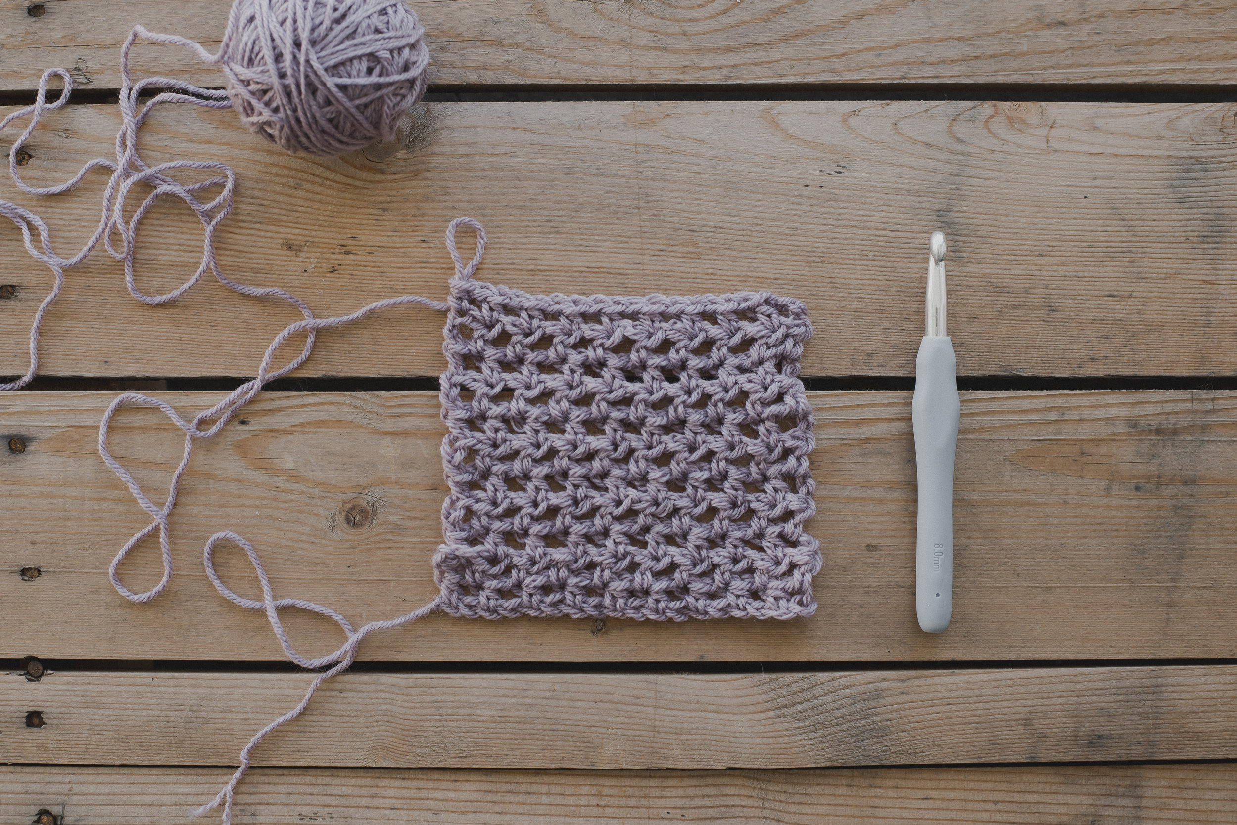 How to Crochet a Flowy Half Double Crochet Mesh Stitch