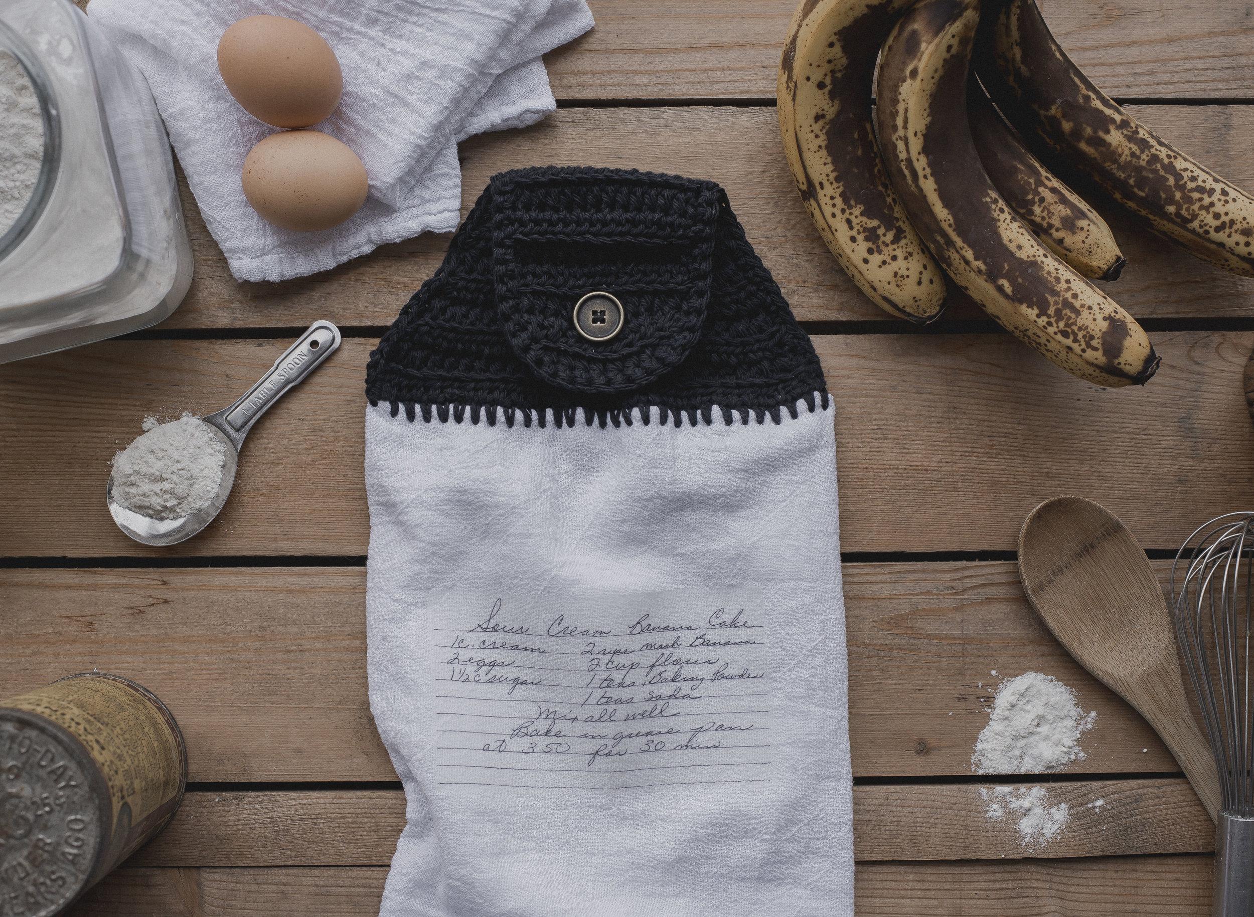 Free Crochet Pattern for Recipe Towel