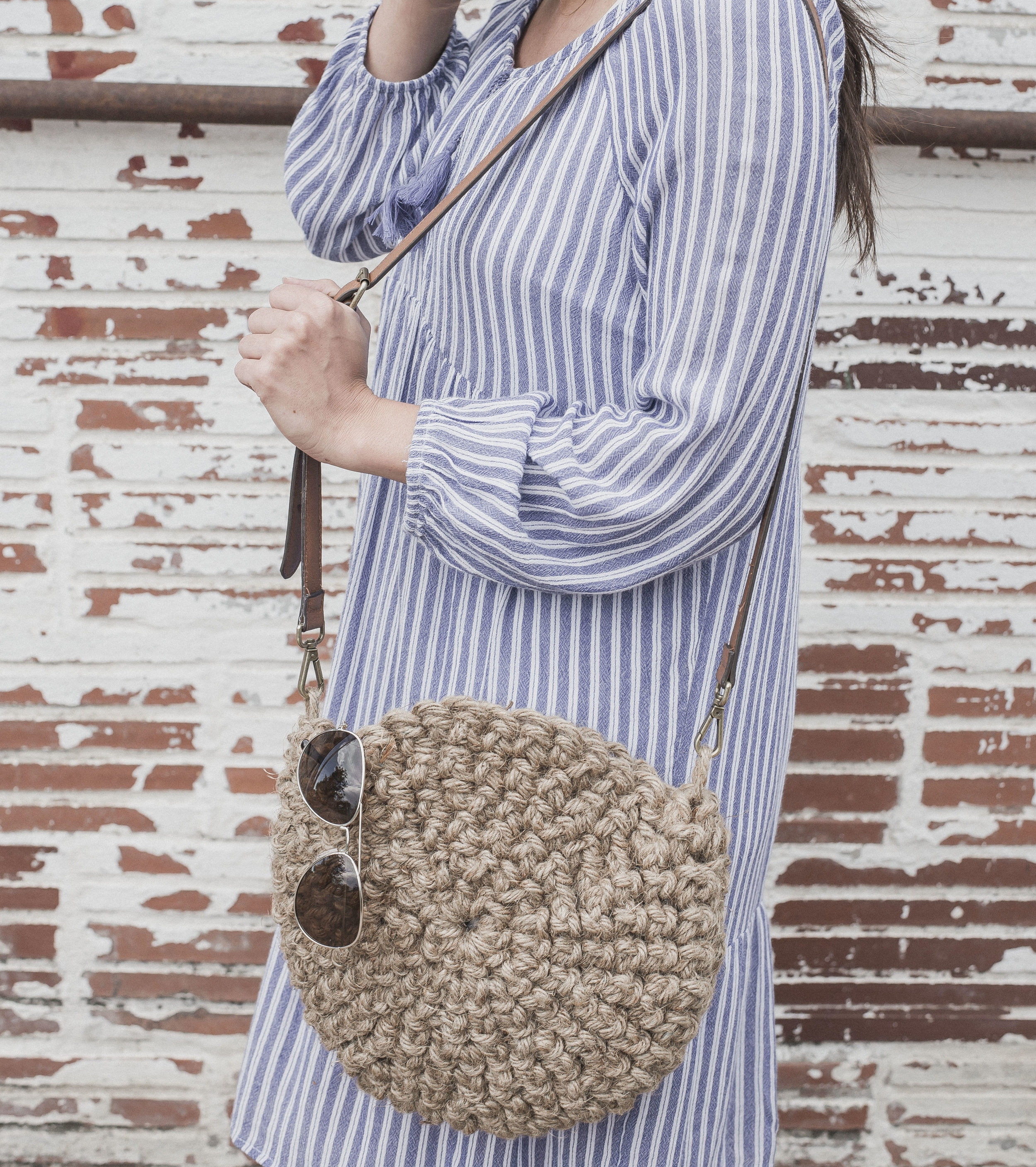 Free Crochet Pattern for The Cute Jute Circle Purse - Megmade with Love