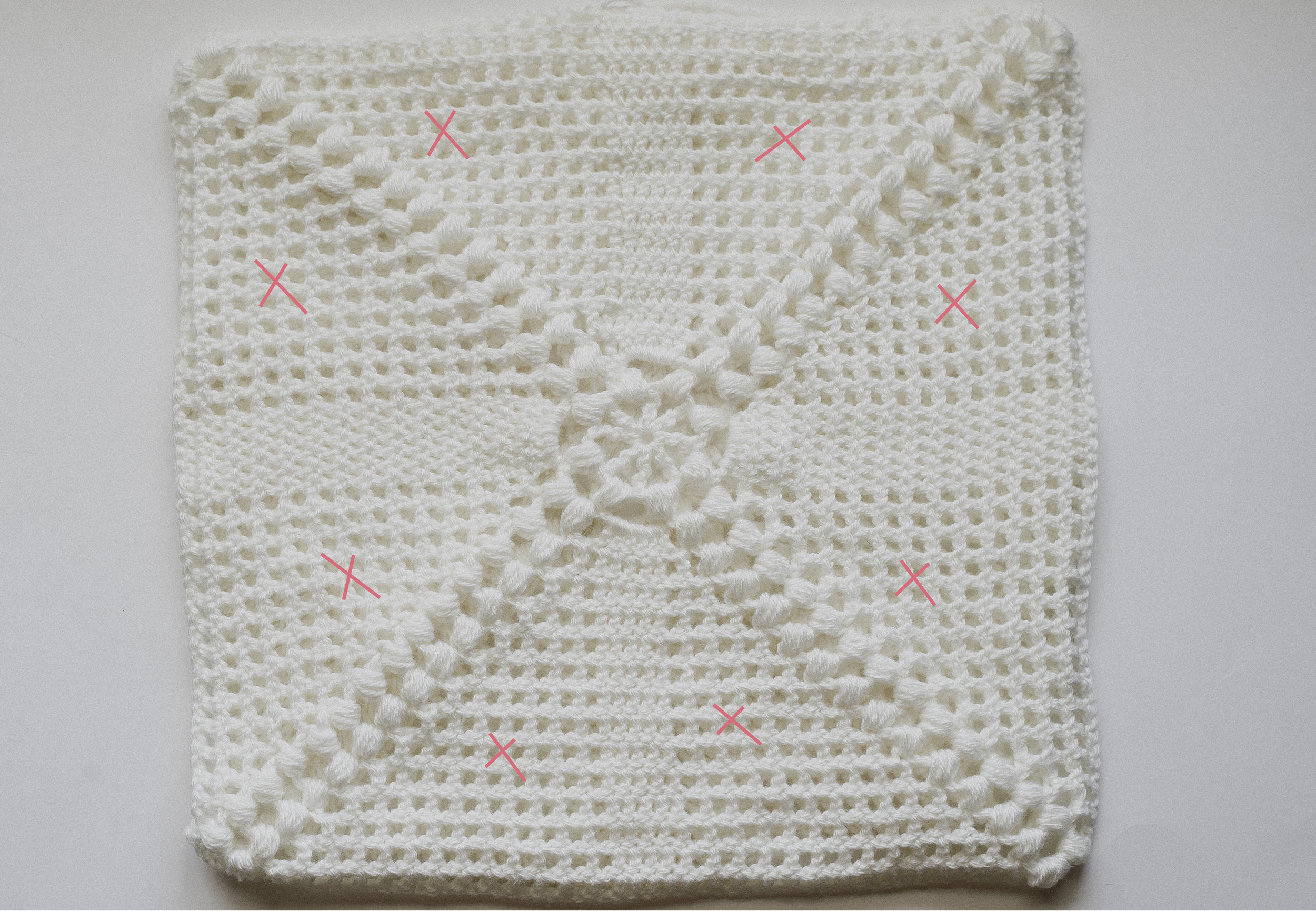 crochet cottage pillow
