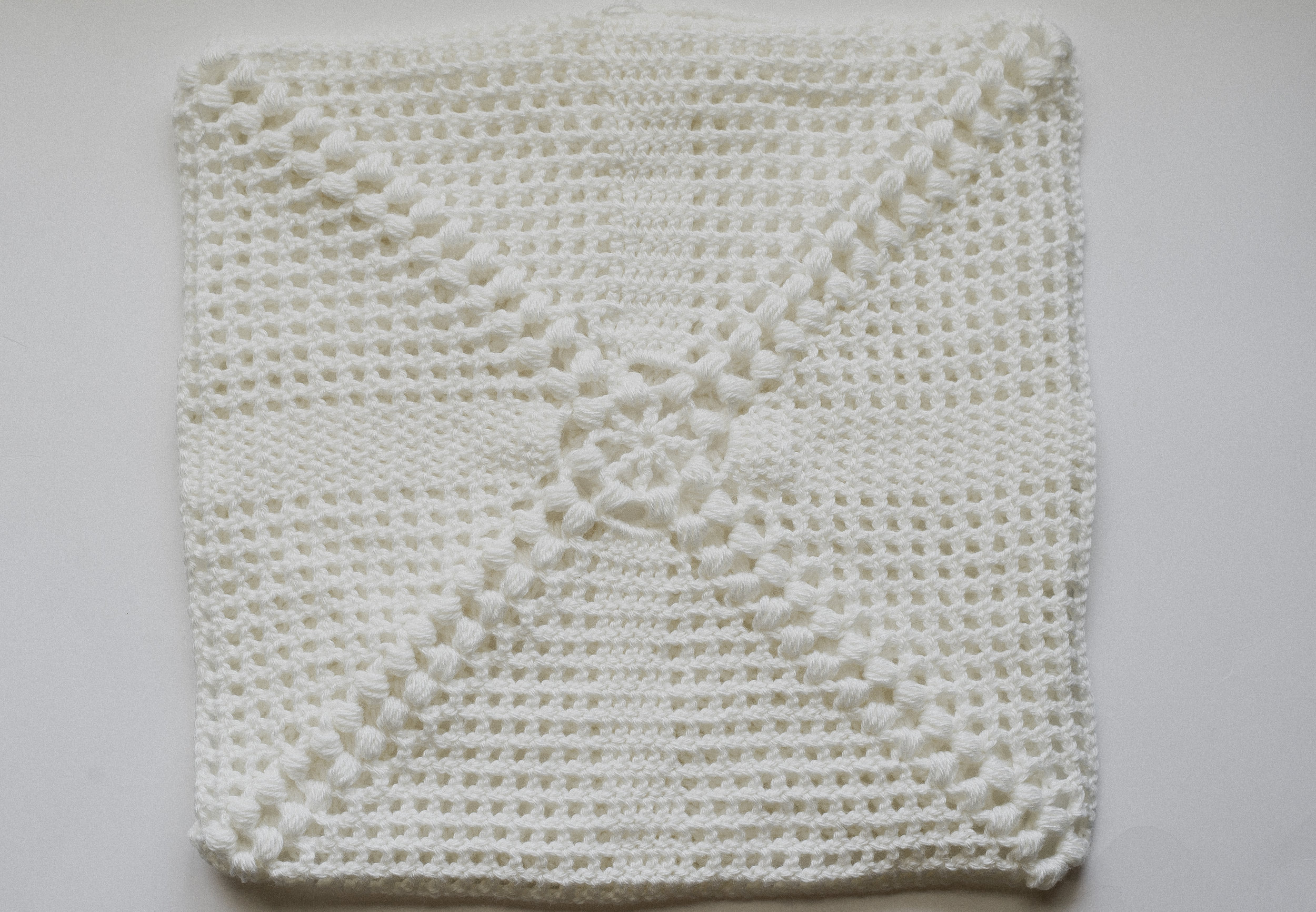 crochet pillow megmade with love