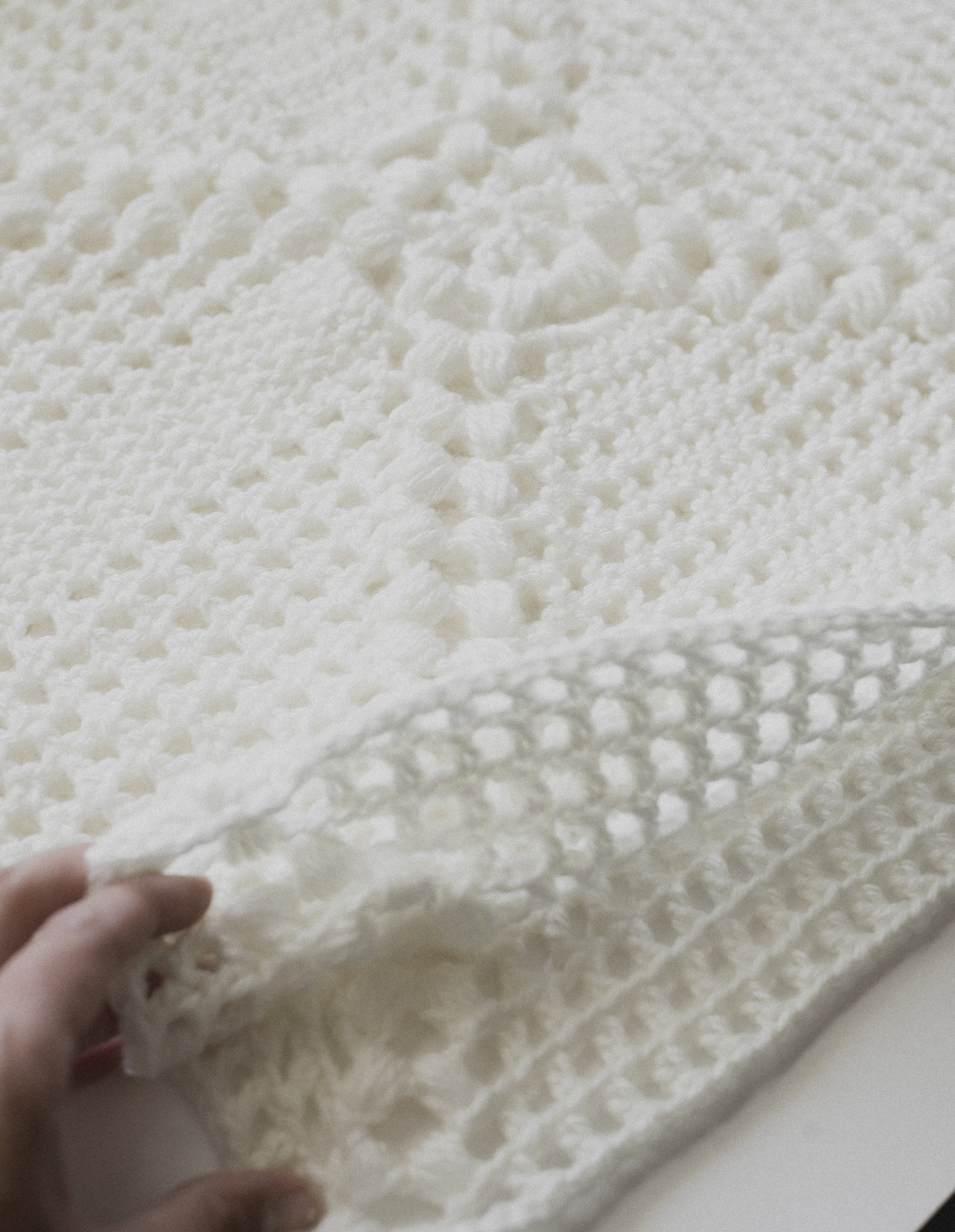 crochet pillow - megmade with love