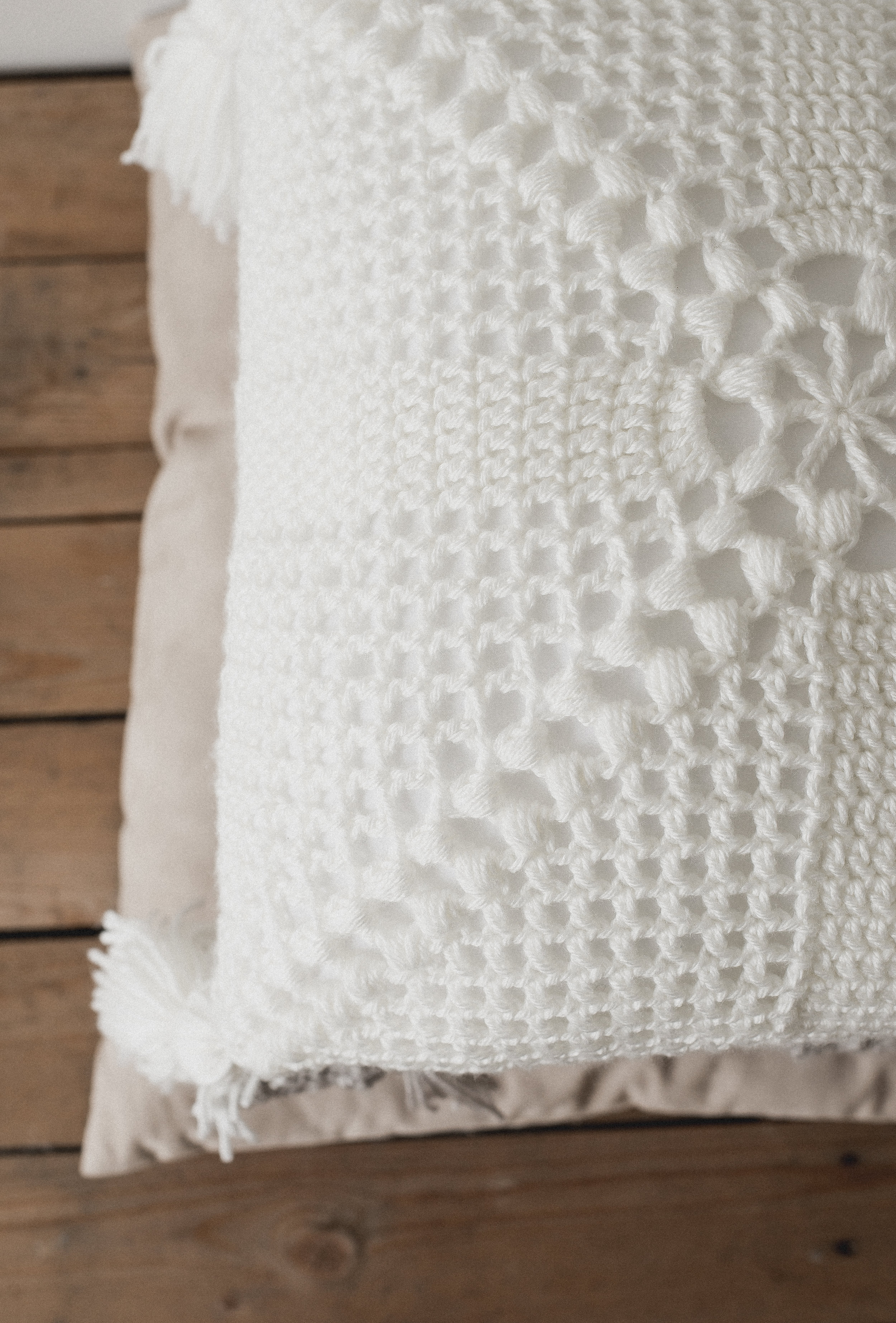 Crochet Cottage Pillow - Megmade with Love