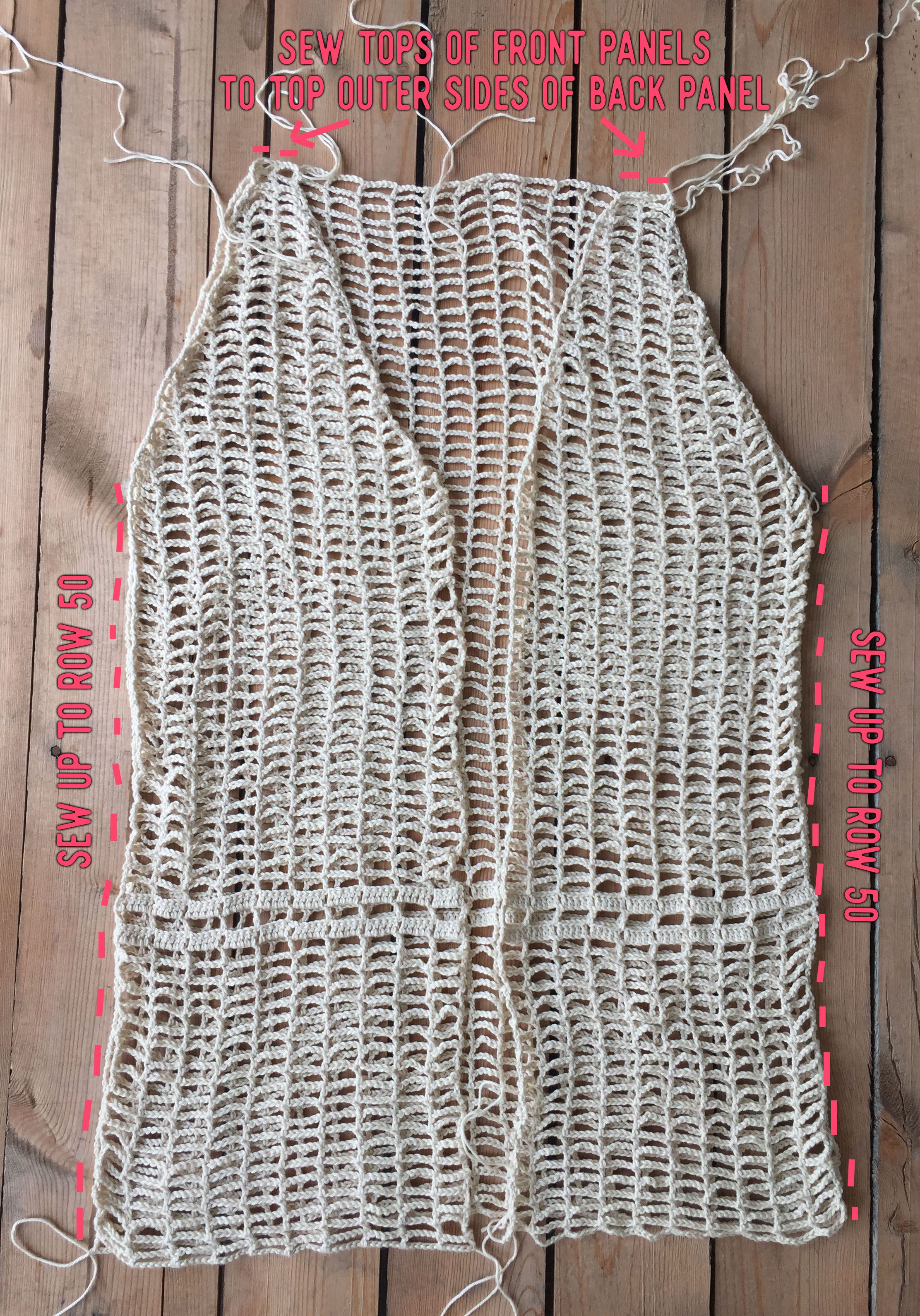 Crochet Vest - Megmade with Love
