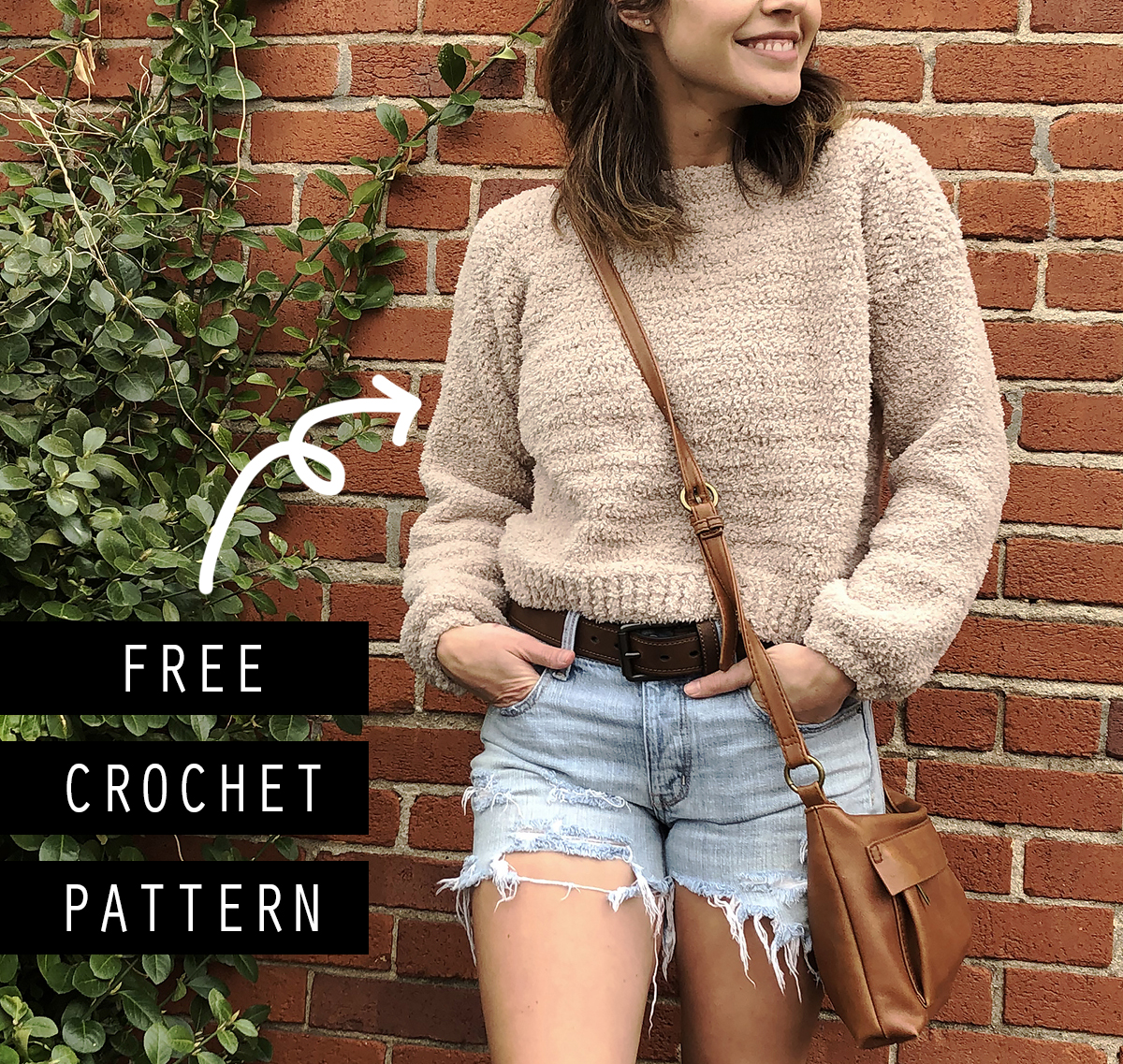 Crochet Cropped Sweater - Megmade with Love