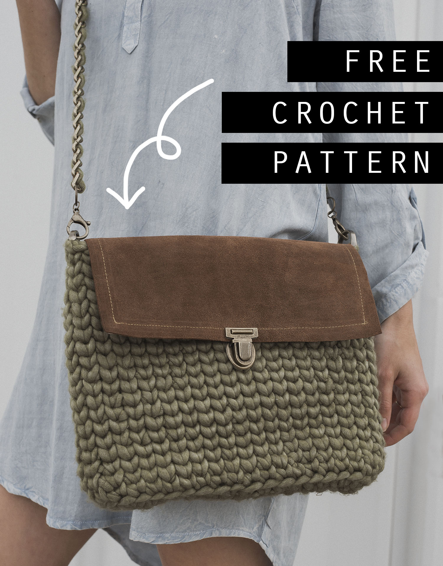 Crochet Pattern Cross Body Bag - Megmade with Love