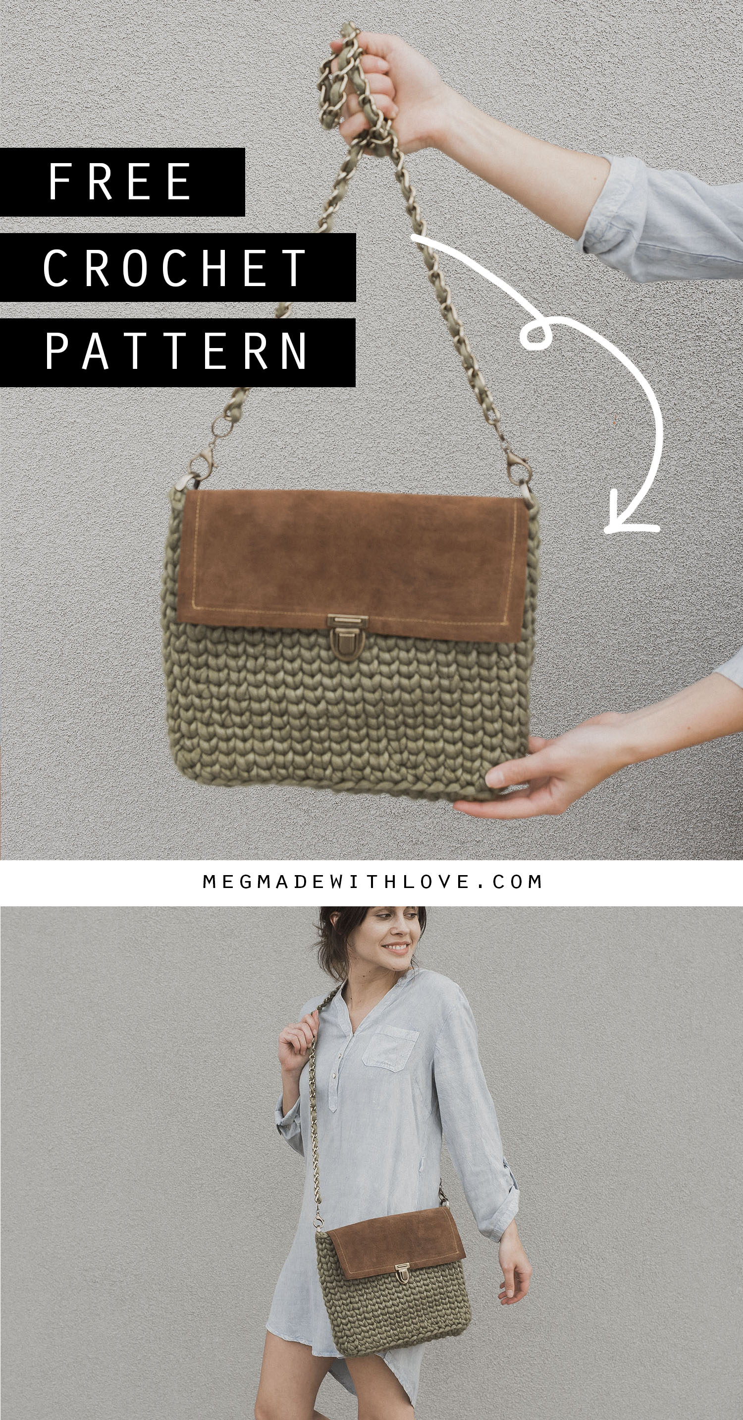 Megmade with Love -  Free Crochet Purse Pattern