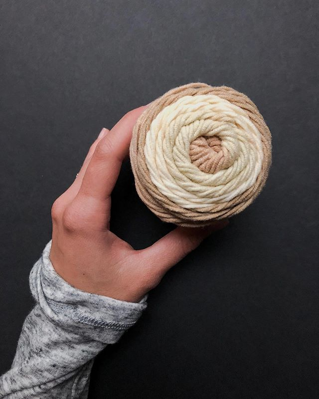 "The name of this yarn is ""Lil Dollop"" and idk why but I find it hilarious.. 😆 . . . #megmadewithlove #yarn #hobbylobby #crochetersofinstagram #makersgonnamake #crochetlove #yarnporn #yarnlove"