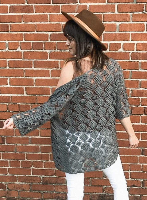 Free Crochet Pattern - Webwork Summer Cardigan - Megmade with Love