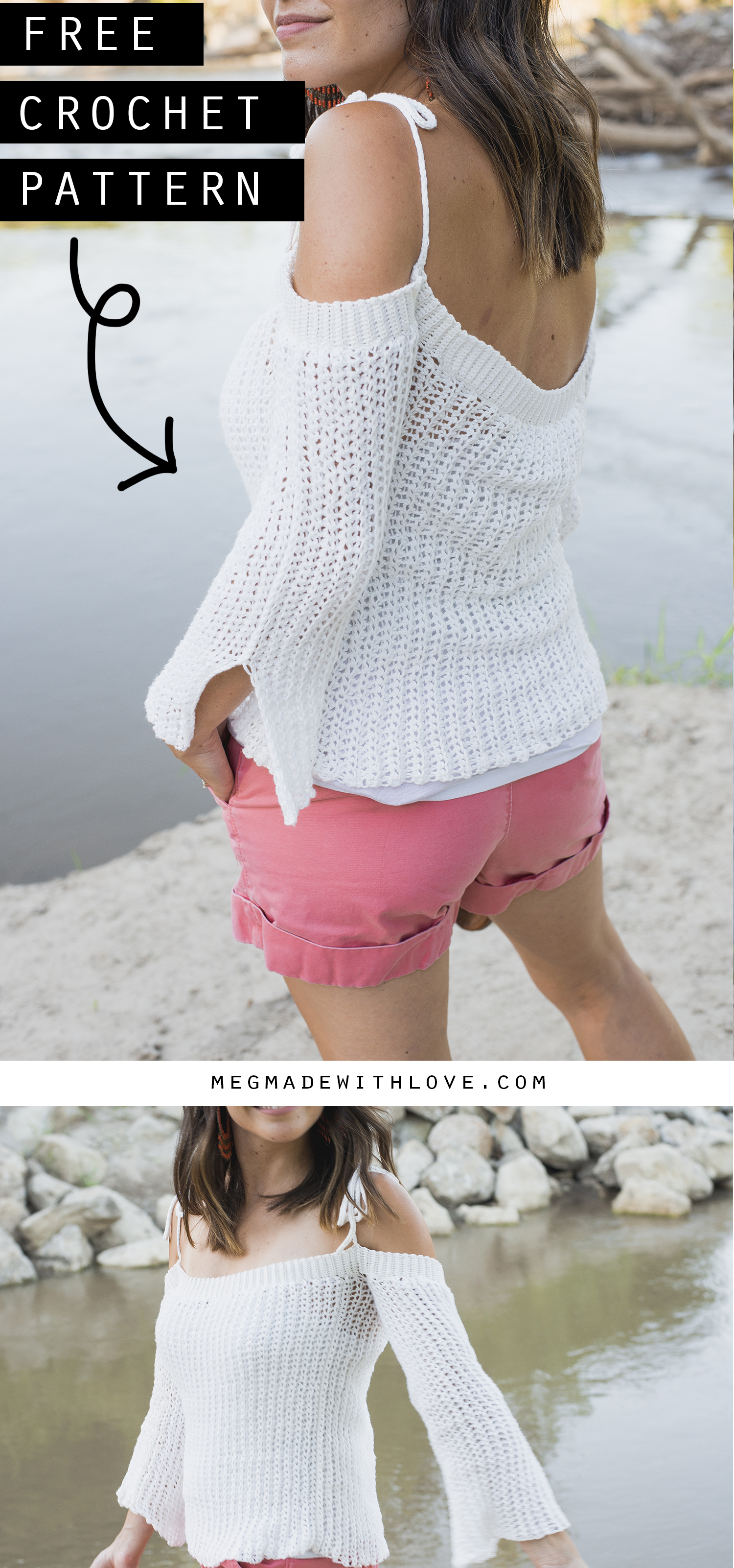 Free Crochet Pattern for the Sunset Sweater - Megmade with Love