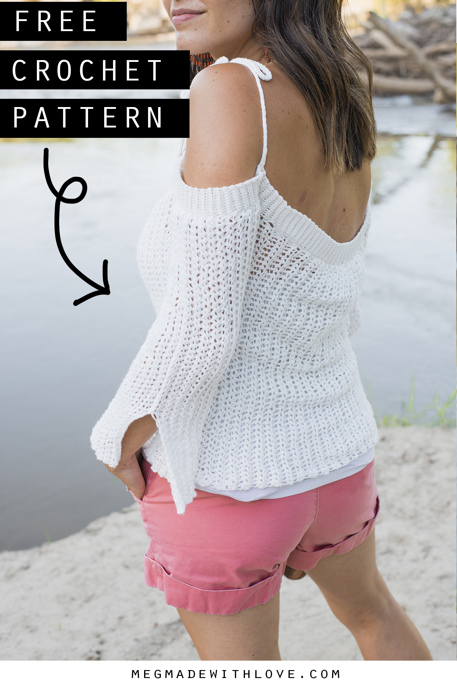 The Sunset Crochet Sweater Pattern - Megmade with Love