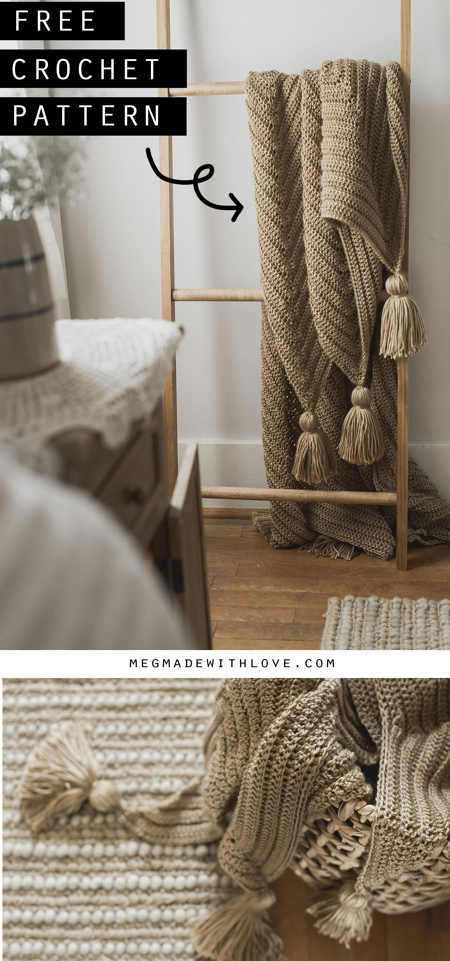 Grande Chevron Blanket - Free Crochet Pattern - Megmade with Love