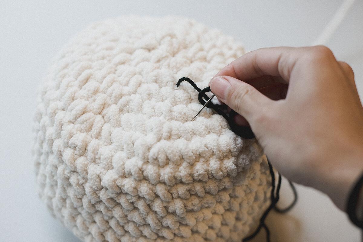 Free Crochet Pattern for a Mudcloth Crochet Pumpkin - Megmade with Love