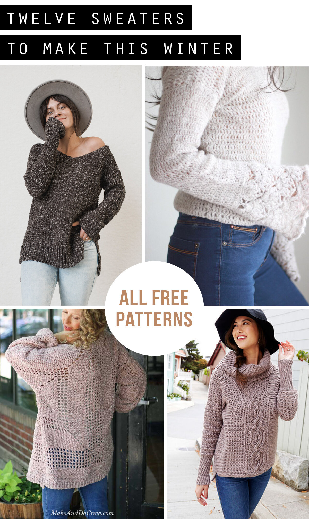 Twelve Free Crochet Sweater Patterns To Make This Winter Megmade With Love