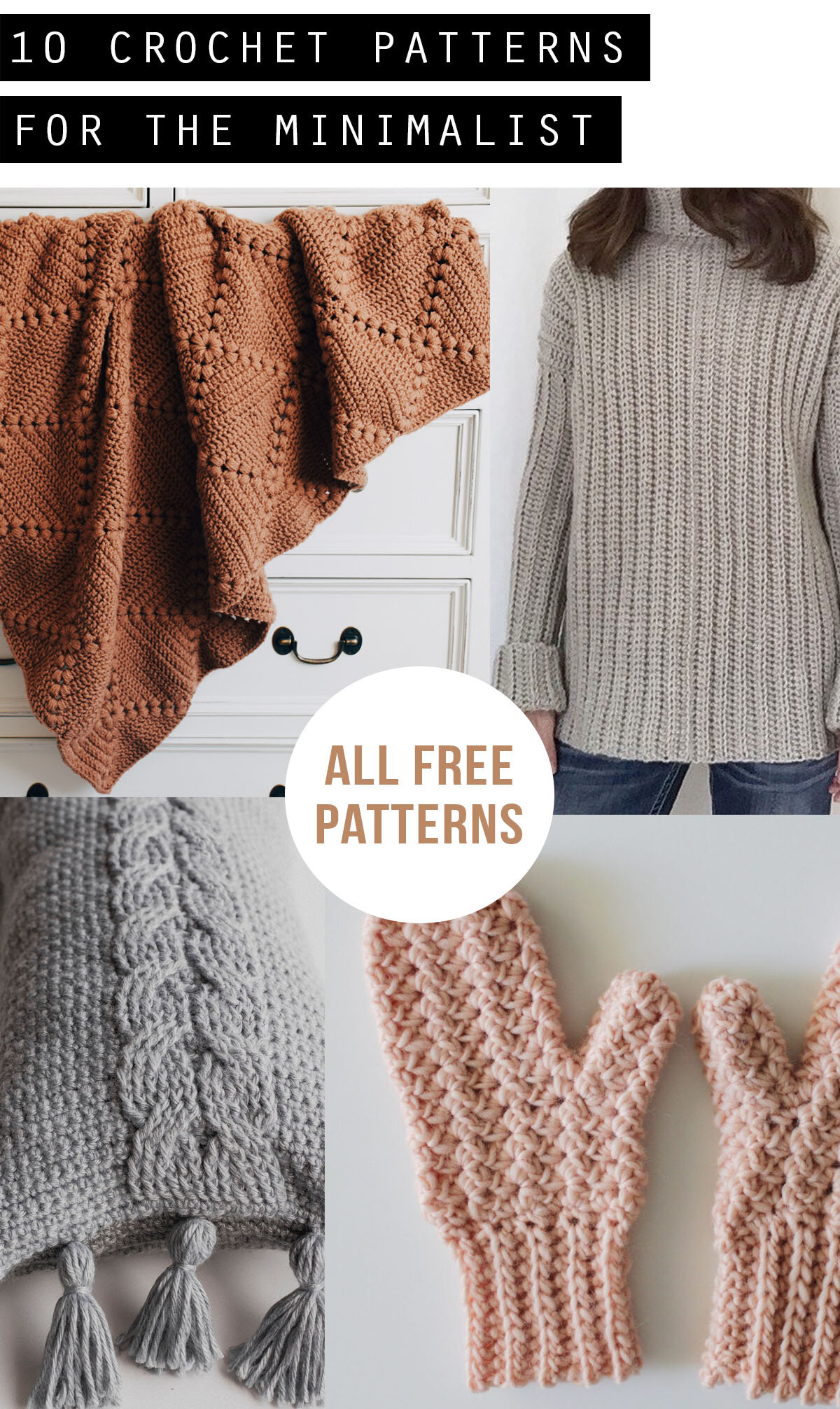 Ten Minimalist Free Crochet Patterns Megmade With Love