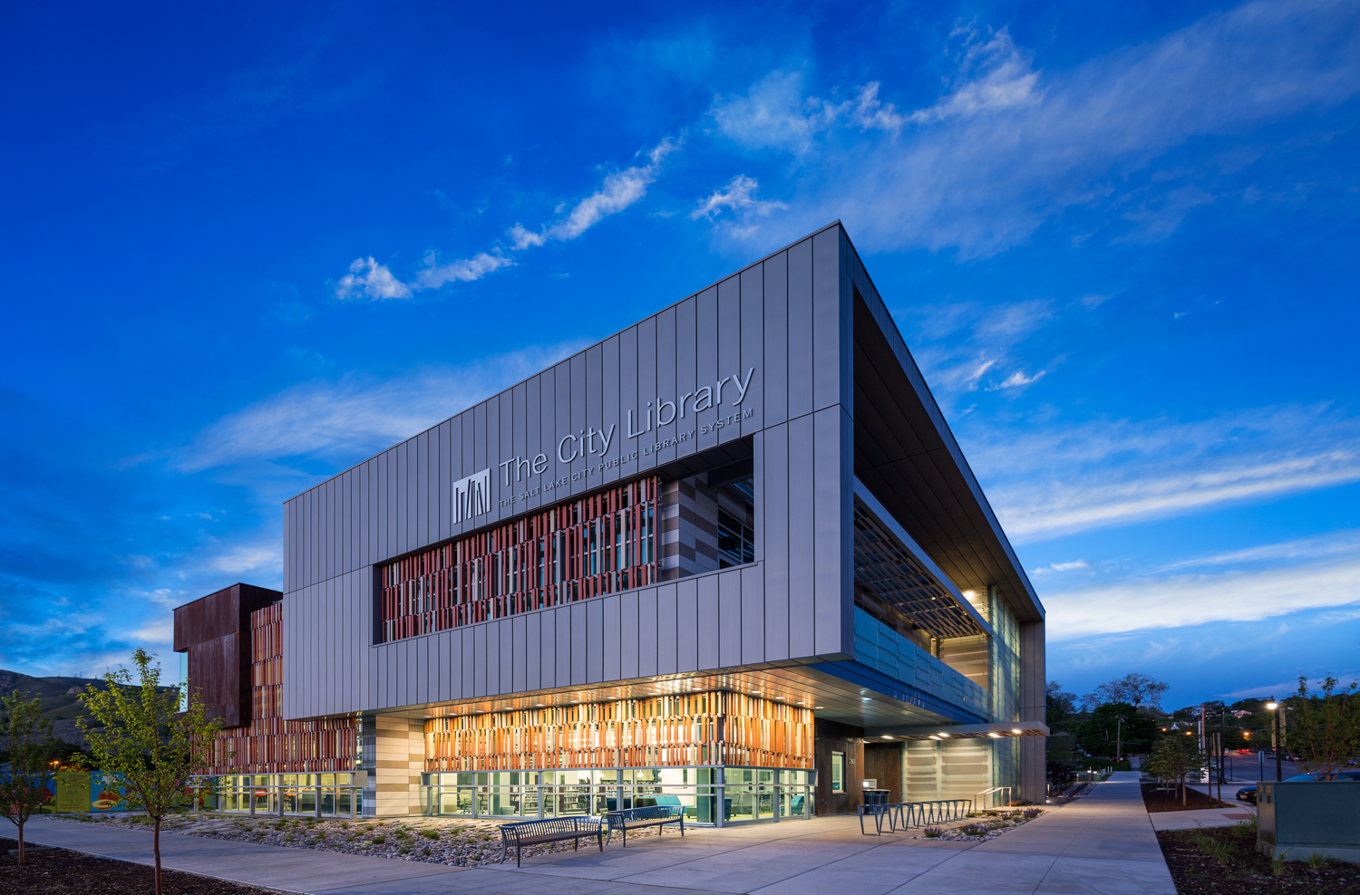 An outside view of the Salt Lake City Public LIbrary's Marmalade branch. Photo from  Moca Project Management.