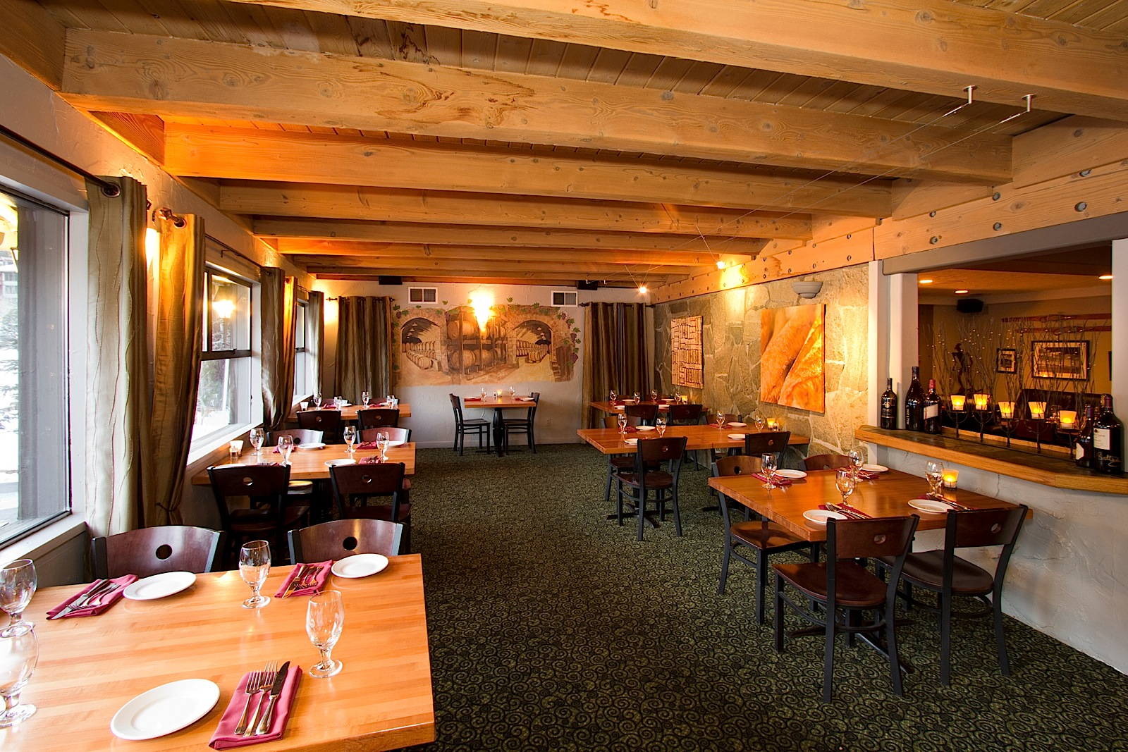 Fine dining in a cozy setting at Petra's Bistro