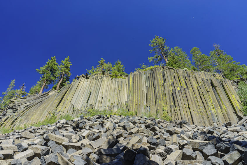 Basalt formations make up the Devils Postpile National Monument