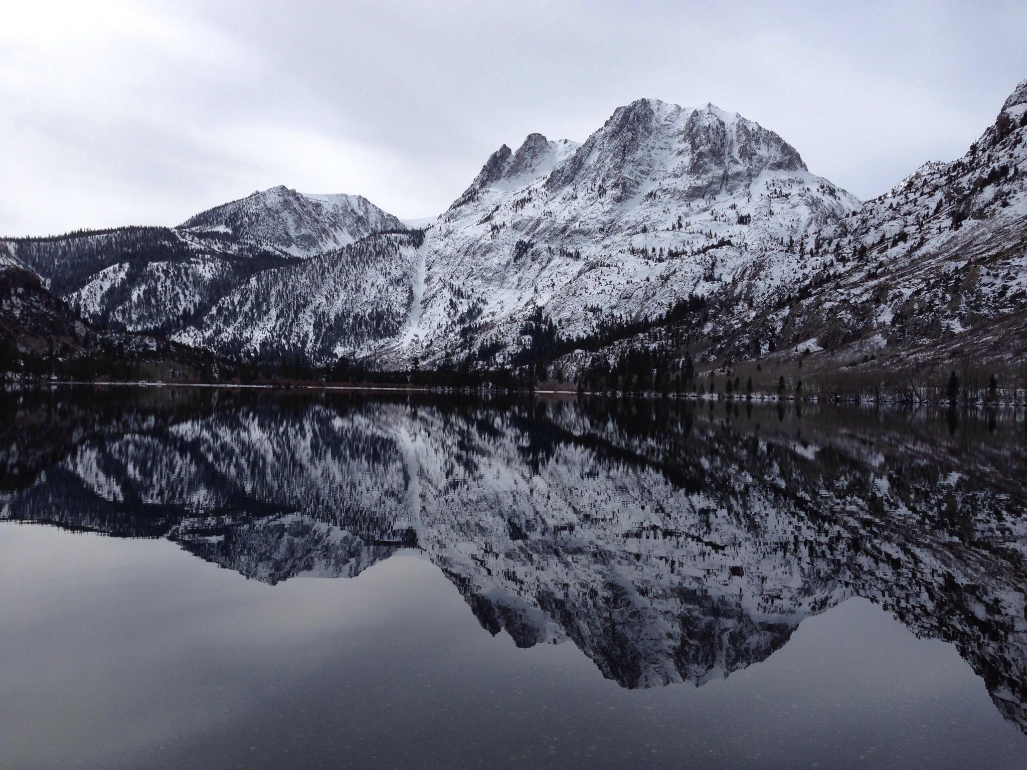 Silver Lake lies beneath Carson Peak