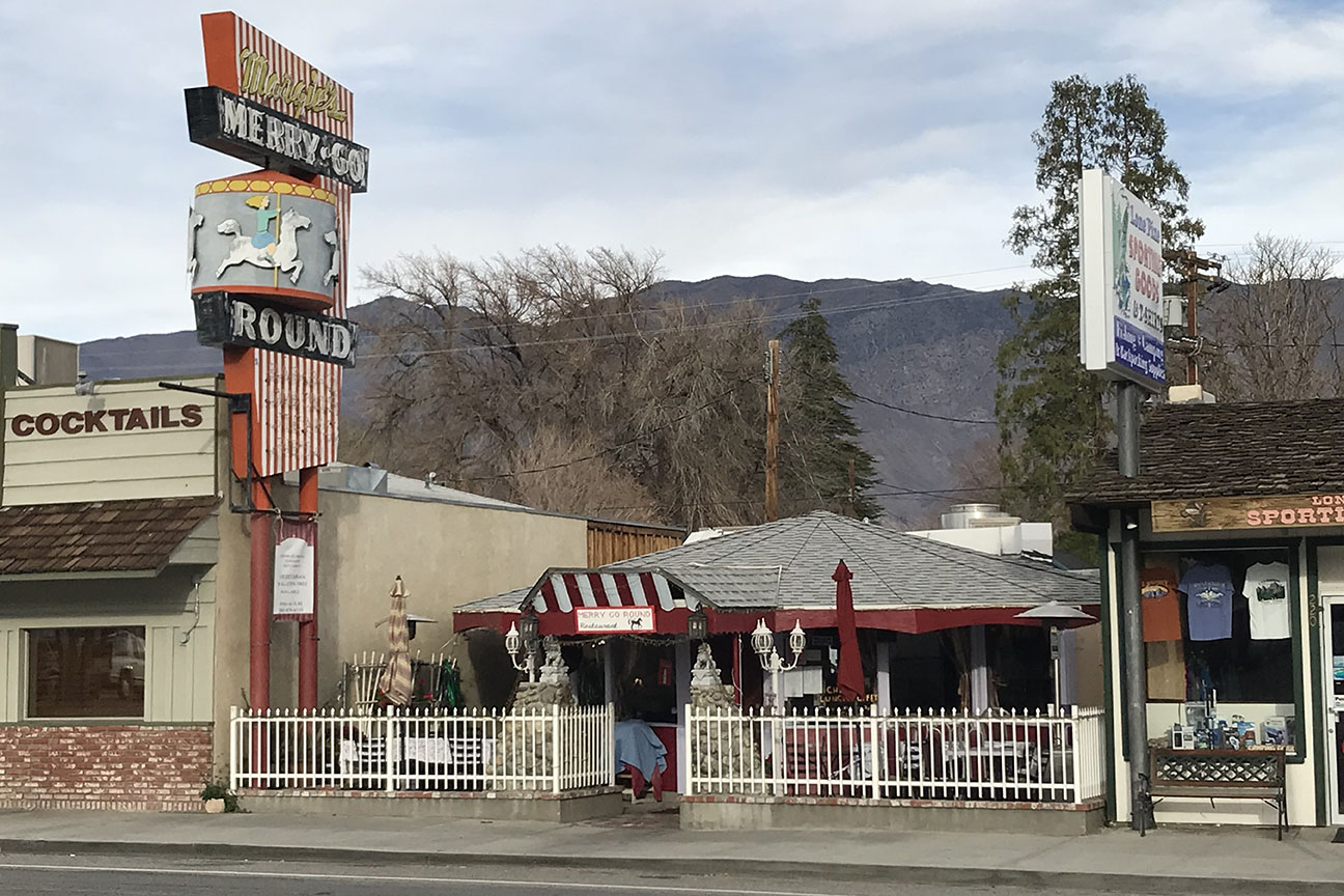 The Merry Go Round sits in the middle of town in Lone Pine