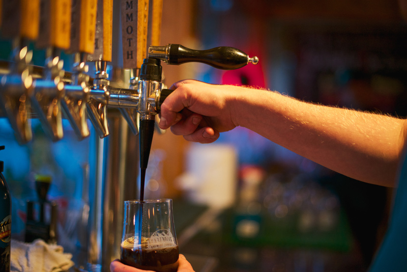 Mammoth Brewing Company offers several styles of beers and pours -- including a nitro tap ( mammothbrewingco.com )