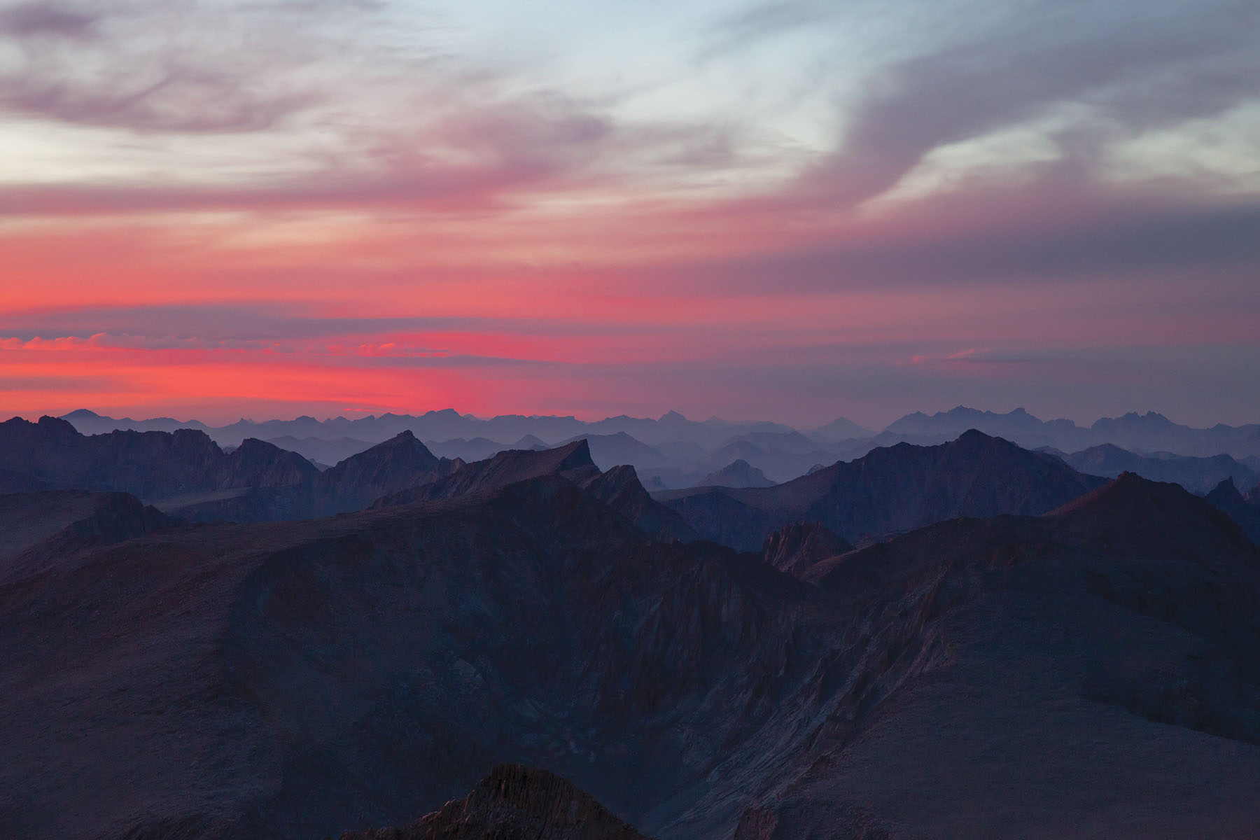 The highest point in the contiguous U.S. features some of the best sunsets on the planet