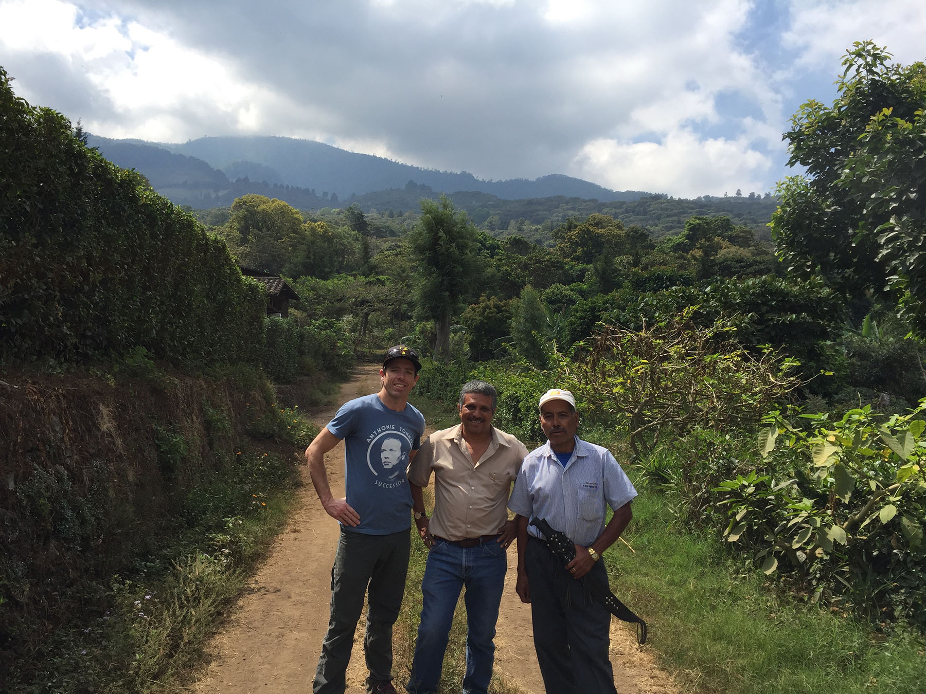 Black Sheep owner Peter Schultz in Central America doing business directly with coffee farmers