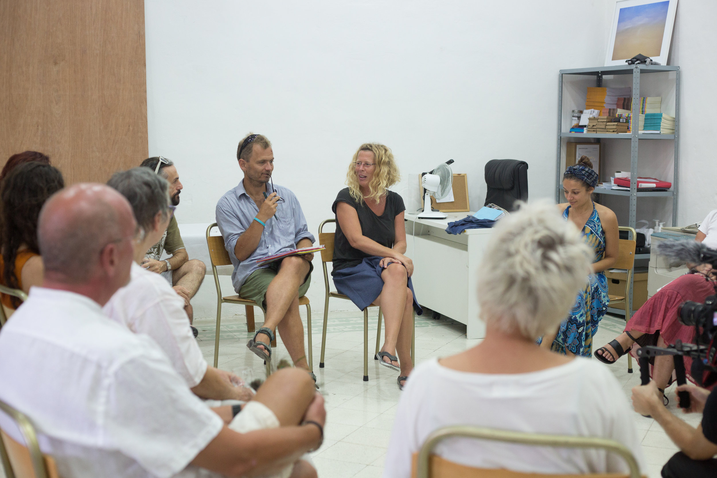 Panel discussion about radical recycling Organised by Time's Up Mediator Greta Muscat Azzopardi from The Amber Spark