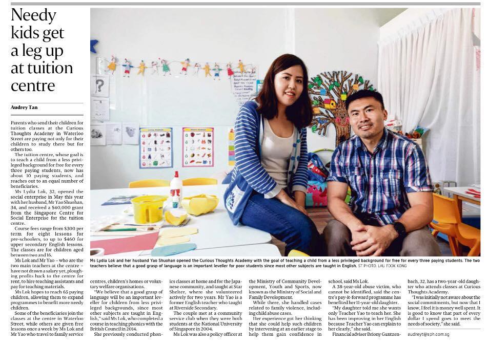 10 September 2017, Straits Times