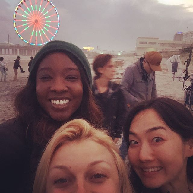 Selfie game: strong #atlanticcity #hairteam #friendsfromcollege #netflix #hairstylist #nychairstylist #newyorkhairstylist