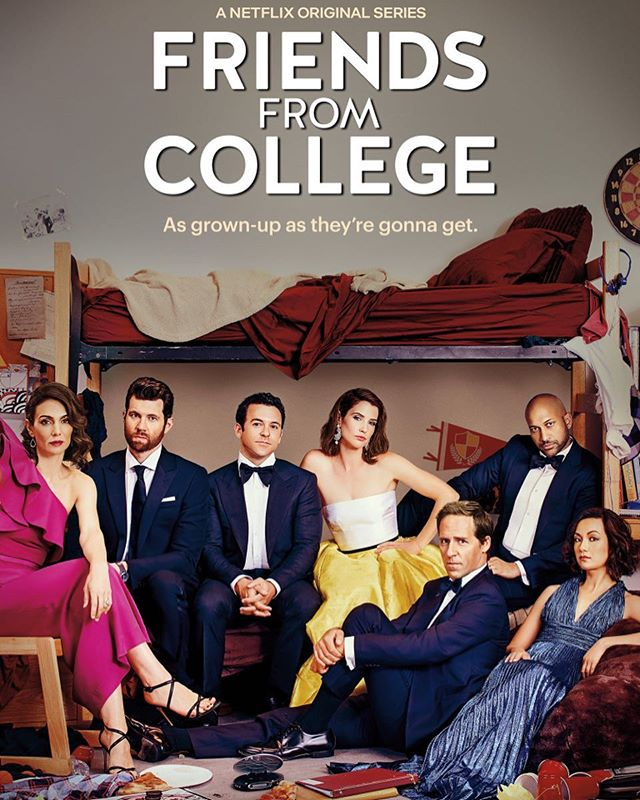 Loved this promo shoot for #friendsfromcollege season 2 A great show with a dream cast and the lovelies @satoko_ny and @ambermorartistry ❤️❤️ #redcarpethair #hairstylist #tvhairstylist #nychairstylist #nychair