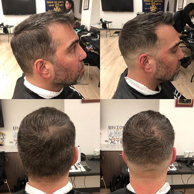 Before - left  After - right Skin fade on this handsome dude 💇🏻‍♂️💙 #hair #nychair #haircut