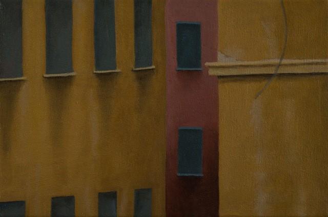 """Bologna Walls oil/canvas 8"""" x 12"""" 2015"""