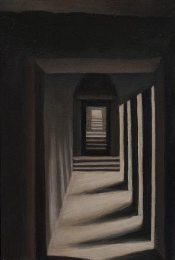 "Cambodian Passageway II  12"" x 8"" oil/canvas 2012"